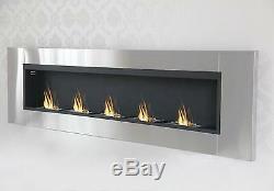 190 cm Luxus Kamin Bio Ethanol Gelkamin Wall Fireplace Cheminee Stainless steel