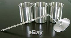 1 2 oder 3 Edelstahl Dosen 0,5 l Flammenkiller NEU Brenngel Bio Ethanol Gel