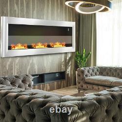 48 in Large Bio Ethanol Fireplace Burner Wall Insert Biofire Fire Indoor Outside