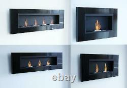 5 Different Luxury Stainless Steel Bio Ethanol Fireplace Gel Wall Cheminee