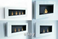 5 Different Luxury White Bio Ethanol Fireplace Gel Wall Cheminee