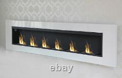 6 Burner Luxury Chimney Bio Ethanol Gel Fireplace Wall Cheminee White High Gloss