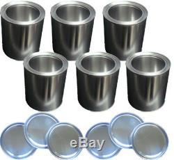 6 Dosen mit Deckel für Brenngel Bioethanol Gelkamin Ethanolkamin Ethanol Kamin