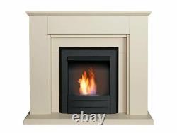 Adam Greenwich Fireplace Suite Stone Effect + Colorado Bio Ethanol Fire Black, 4