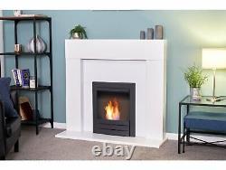 Adam Miami Fireplace Pure White + Colorado Bio Ethanol Fire Black, 48