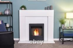 Adam Miami Fireplace in Pure White with Colorado Bio Ethanol Fire in Black, 4