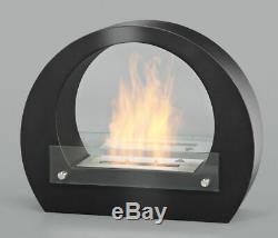 Amsterdam Gel Fireplace Black Bio Ethanol Wall Cheminee
