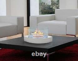 Anywhere Fireplace Lexington White Eco Bio Fuel Smoke Free Home Indoor Outdoor