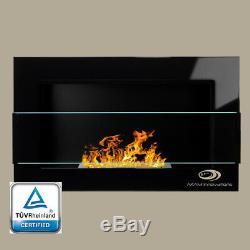 BIO ETHANOL FIREPLACE Balance+GLASS ECO WALL FIRE BURNER 650X400 COLOURS +FREE