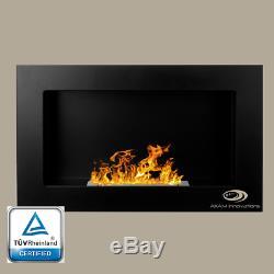 BIO ETHANOL FIREPLACE Balance OPTIONAL GLASS WALL FIRE BURNER COLOURS 65X40cm