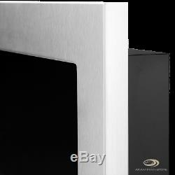 BIO ETHANOL FIREPLACE Emotion INOX with GLASS WALL FIRE BURNER 1200x400 + TÜV