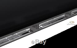 BIO ETHANOL FIREPLACE Emotion WHITE GLOSS EXTRA LARGE 120x40 Wide flame effect