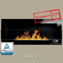 BIO ETHANOL FIREPLACE Euphoria +GLASS WALL ECO FIRE BURNER +COLOURS 90X40cm