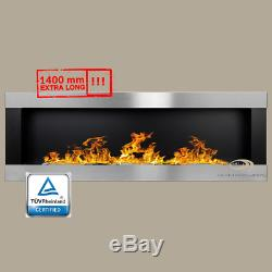 BIO ETHANOL FIREPLACE LINEAR Excellence BLACK MATT/ INOX 1400x400mm +FREE+ TUV