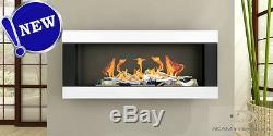 BIO ETHANOL FIREPLACE Linear Euphoria BLACK MATT/ WHITE 90x40cm! NEW DESIGN