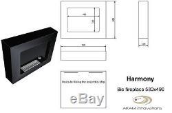 BIO ETHANOL FIREPLACE WALL CORNER 580x490 AROMA STONES FREE ECO BURNER AKAM DIY