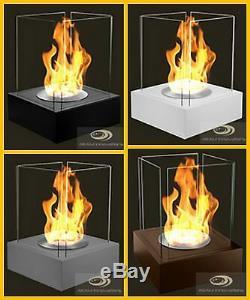 BIO ETHANOL GLASS FIREPLACE Joy PORTABLE PATIO GARDEN BURNER LARGE 52x40x40
