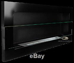 BIO FIRE BURNER Euphoria BLACK GLOSS with GLASS 90x40 BIO ETHANOL FIREPLACE