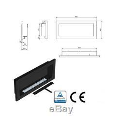 BROWN BIO ETHANOL FIREPLACE 900x400 DESIGN ECO + ACCESSORIES