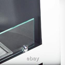 B-Ware Kamin 92,5 cm DALLAS Weiß Bio-Ethanol Kamin Edel Standkamin Luxuskamin Ti