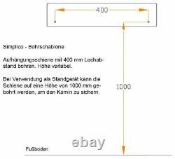 Bergamo Simplico BIO-Ethanol Kamin Kaminofen schwarz (FKE-0807. SK. S30. SZGR)