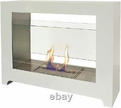 BioCheminée Purline Fireplace Styx Bio-ethanol Modern Design, White