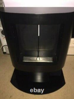 Bio Ethanol Black Fireplace Freestanding