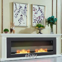 Bio Ethanol Fire 40 Fire Insert/Wall Mounted Recess Fireplace In&Outdoor Burner
