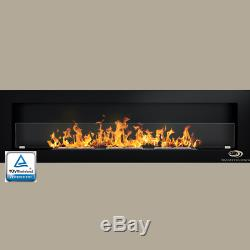 Bio Ethanol Fireplace 1700/1400/1200/900/650 Glass Hq Alcohol Eco Insert Colours