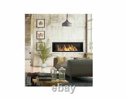 Bio Ethanol Fireplace B2C 1200x400 Black 1 long burner 90cm (NO GLASS) DAMAGED