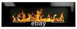 Bio Ethanol Fireplace Biofire B2C Professional 1200x400 High Gloss Black Damaged