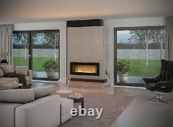 Bio Ethanol Fireplace Biofire Fire 1200 BLACK SIMPLE fire Frame Glass 120cm 1.2m