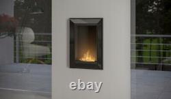 Bio Ethanol Fireplace Biofire Fire 550 BLACK SIMPLE fire Frame Glass 55cm 0.55m