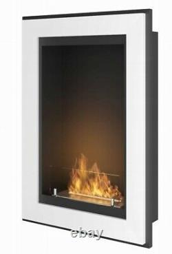 Bio Ethanol Fireplace Biofire Fire 550 WHITE SIMPLE fire Frame Glass 55cm 0.55m