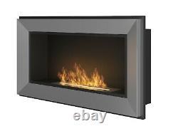 Bio Ethanol Fireplace Biofire Fire 900 INOX SIMPLE fire Frame Glass 90cm 0.9m