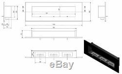 Bio Ethanol Fireplace Biofire Fire B2C Professional 1200 x 400 /GLASS/ 5 Colors
