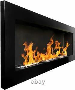Bio Ethanol Fireplace Biofire Fire B2C Professional 1400 x 400 High Gloss Black