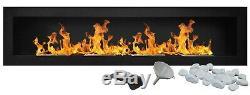 Bio Ethanol Fireplace Biofire Fire B2C Professional 1600 x 400 Black Damaged