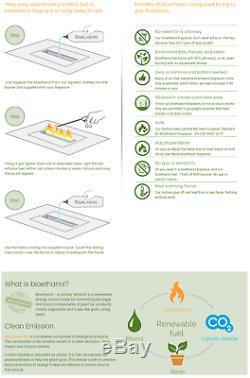 Bio Ethanol Fireplace Biofire Fire B2C Professional 1800x400 3XXL WITH GLASS