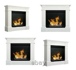 Bio Ethanol Fireplace Biofire Fire B2C Professional Portal Unit BLACK WITH GLASS