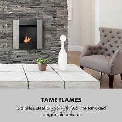 Bio Ethanol Fireplace Burner Space Heater SmokeFree Stainless Steel 0,8 2hours