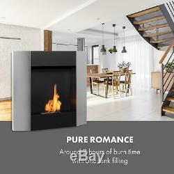Bio Ethanol Fireplace Burner Space Heater SmokeFree Stainless Steel 0,8 2hours