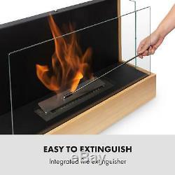 Bio Ethanol Fireplace Burner Space Heater SmokeFree Stainless Steel 0,8 Design