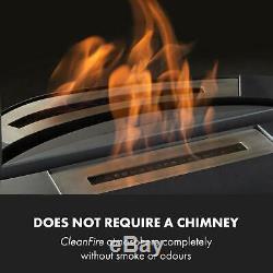 Bio Ethanol Fireplace Burner Space Heater SmokeFree Stainless Steel 0,8 Tank