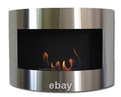 Bio Ethanol Fireplace DIANA Deluxe Black Stainless Steel Fire Place + Firebox