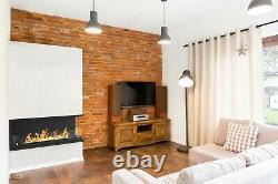 Bio Ethanol Fireplace Double-sided Corner Black ECO Alcohol Burner Glass& Stones