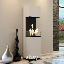 Bio Ethanol Fireplace Indoor Outdoor Camping Glass Top Burner Fire Tornado
