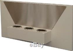Bio Ethanol Fireplace Jasmin White Steel Wall Fireplace Deco Fire 80x40x18 cm