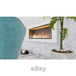 Bio Ethanol Fireplace Wall Mounted Eco Fire Decofire 150cm 10 burners with glass