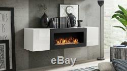Bio Ethanol Fuel Fireplace Shelf Entertainment Unit DESIGN ECO FIRE BURNER FUEL